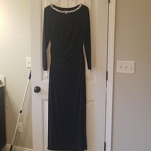 Ralph Lauren navy evening gown sz 10